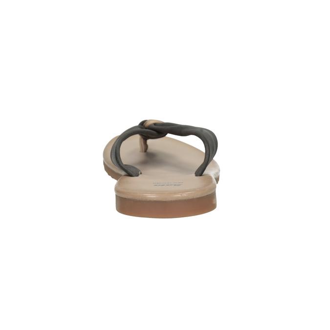 Skórzane japonki damskie bata, czarny, 566-6607 - 17