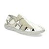 Jasne skórzane sandały męskie bata, biały, 866-1622 - 13