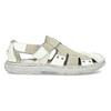 Jasne skórzane sandały męskie bata, biały, 866-1622 - 19