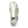 Jasne skórzane sandały męskie bata, biały, 866-1622 - 17