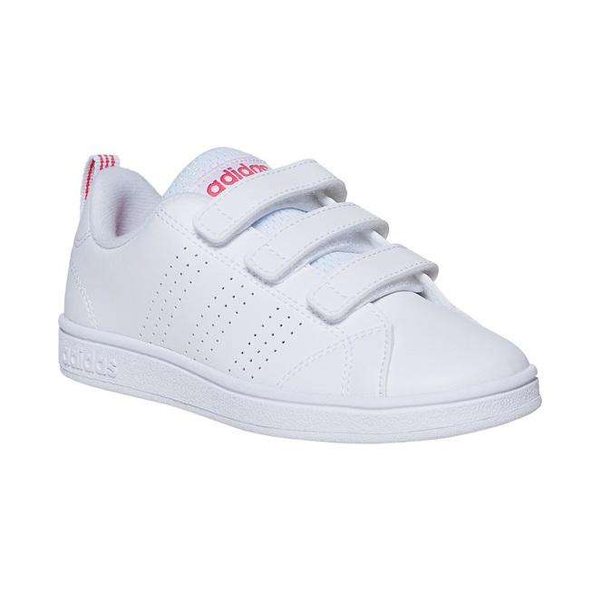Trampki dziewczęce na rzepy adidas, biały, 301-1268 - 13