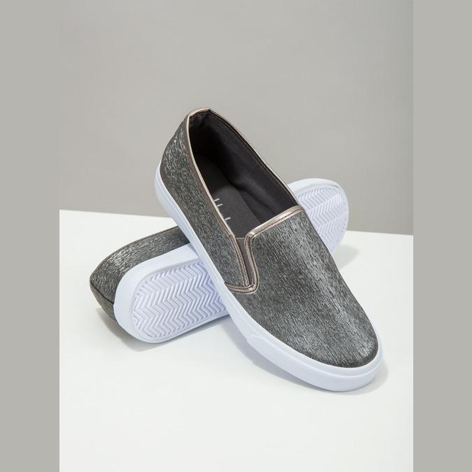 Slip-on damskie wdrobny wzór north-star, srebrny, 511-6605 - 19