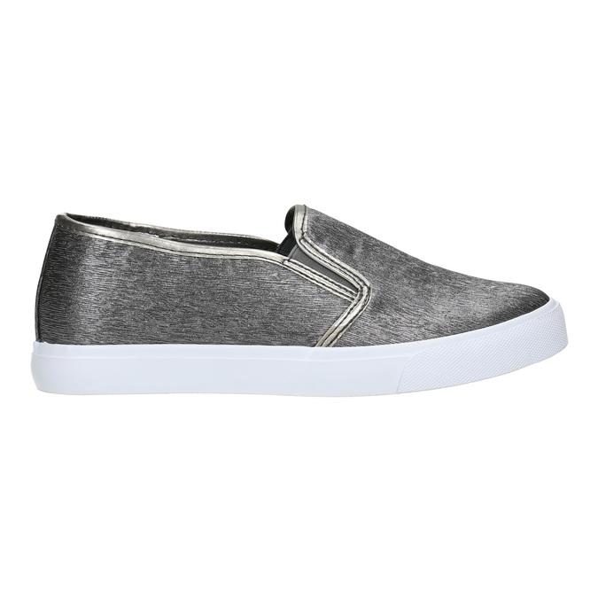 Slip-on damskie wdrobny wzór north-star, srebrny, 511-6605 - 15
