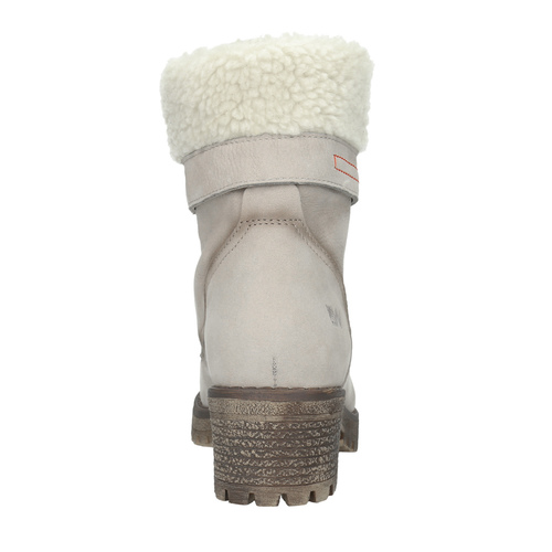 Skórzane buty zimowe zfuterkiem weinbrenner, beżowy, 696-3336 - 15