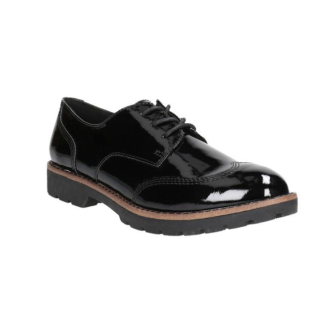 Lakierowane półbuty damskie bata, czarny, 521-6606 - 13
