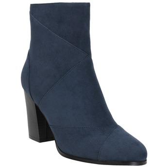 Granatowe kozaki damskie bata, niebieski, 799-9615 - 13