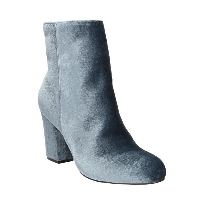 Aksamitne kozaki damskie bata, szary, 799-2616 - 13