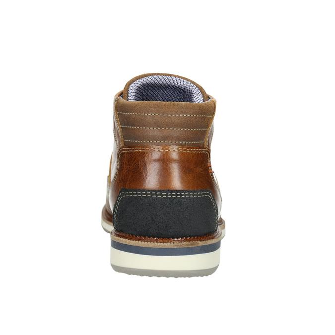 Nieformalne skórzane obuwie za kostkę bata, brązowy, 826-3912 - 17