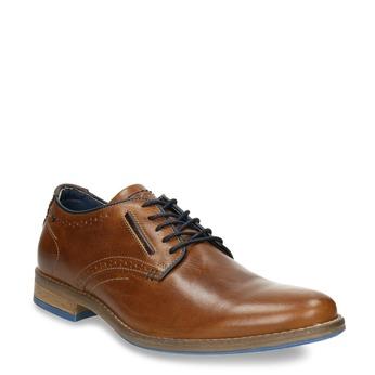Nieformalne skórzane półbuty bata, brązowy, 826-3910 - 13