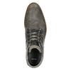 Szare skórzane obuwie za kostkę bata, szary, 826-2912 - 26