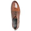Skórzane półbuty zfakturą bata, brązowy, 526-4637 - 19