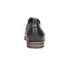 Skórzane półbuty damskie zfakturą bata, czarny, 526-6637 - 17