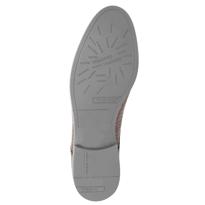 Skórzane półbuty zfakturą bata, brązowy, 526-4637 - 26