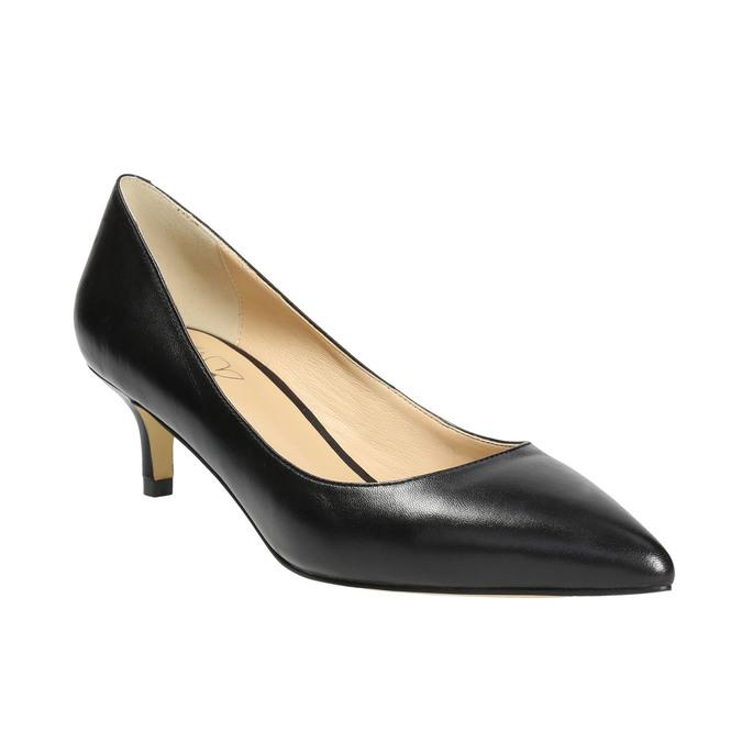 Skórzane czółenka damskie bata, czarny, 624-6640 - 13