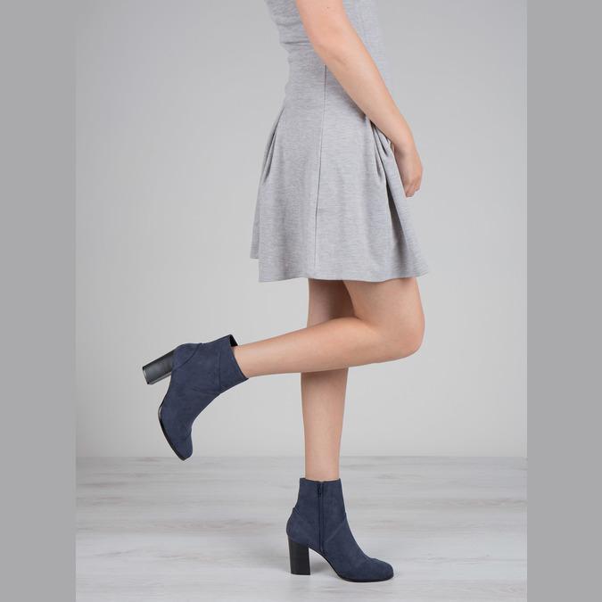 Granatowe kozaki damskie bata, niebieski, 799-9615 - 18