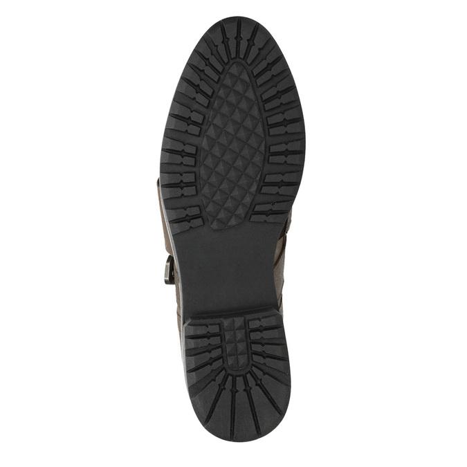 Skórzane półbuty damskie bata, brązowy, 516-2612 - 17
