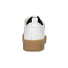 Skórzane trampki damskie na rzepy bata, biały, 526-1646 - 16