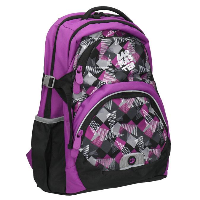 Plecak szkolny wdeseń bagmaster, fioletowy, 969-5656 - 13
