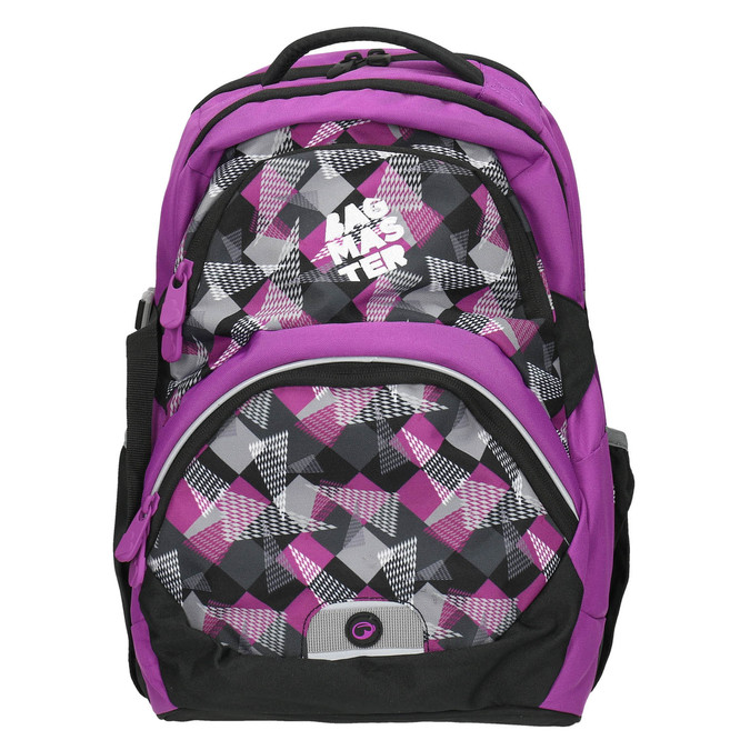Plecak szkolny wdeseń bagmaster, fioletowy, 969-5656 - 26