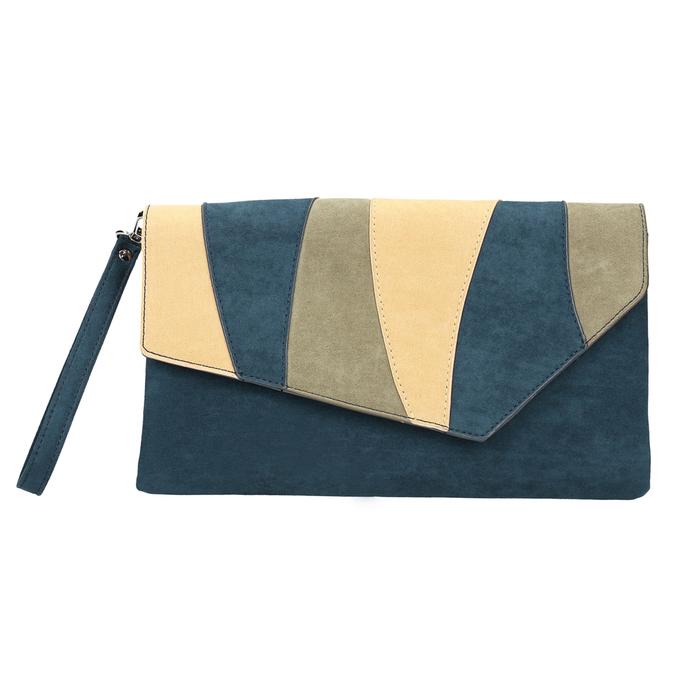 Niebieska kopertówka damska zpaskiem bata, niebieski, 969-9664 - 19