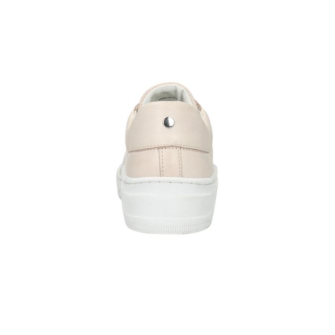 Skórzane trampki damskie bata, różowy, 526-5641 - 17