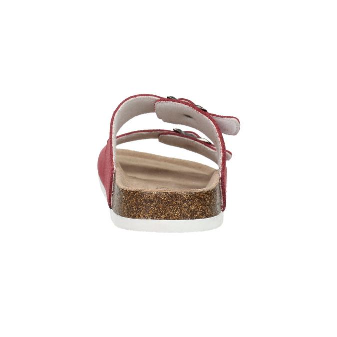Skórzane kapcie damskie de-fonseca, czerwony, 573-4621 - 17