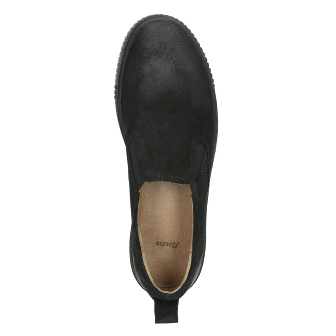 Skórzane slip-on damskie bata, czarny, 516-6613 - 26