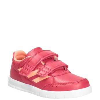 Trampki dziecięce na rzepy adidas, różowy, 101-5161 - 13