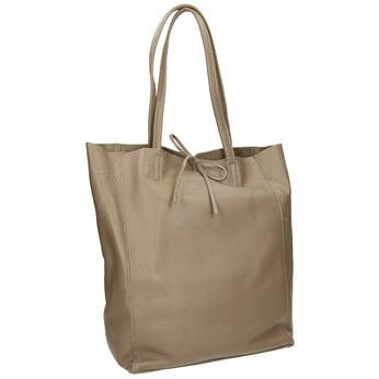 Skórzana torba damska zkokardą bata, beżowy, 964-2122 - 13