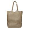 Skórzana torba damska zkokardą bata, beżowy, 964-2122 - 16