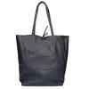 Skórzana torba damska wstylu shopper bata, niebieski, 964-9122 - 16