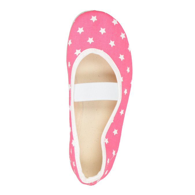 Dziecięce balerinki w gwiazdki bata, różowy, 379-5217 - 15