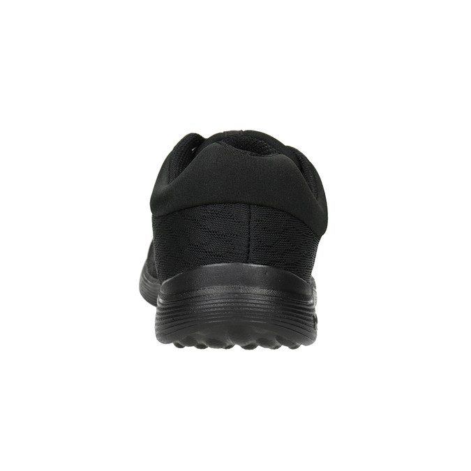 Czarne trampki damskie power, czarny, 509-6203 - 16