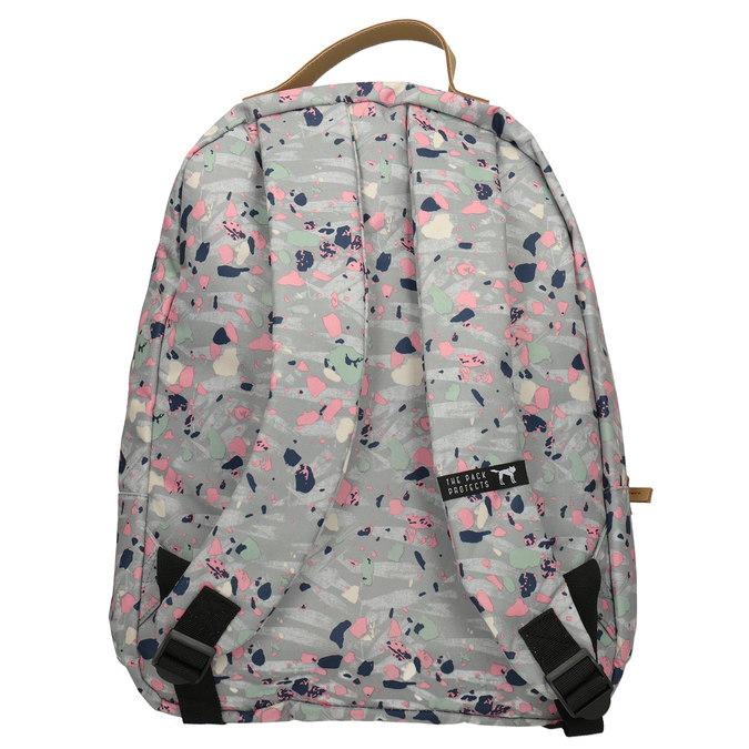 Plecak wkolorowy deseń, szary, 969-2085 - 16