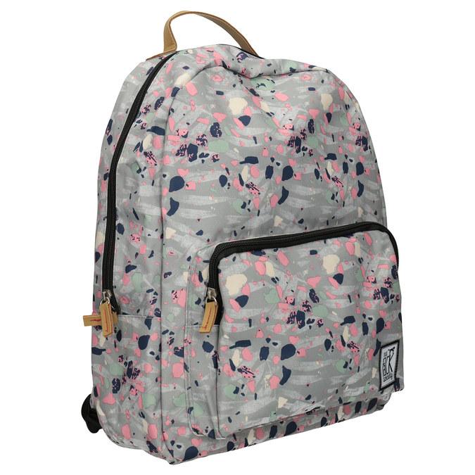 Plecak wkolorowy deseń, szary, 969-2085 - 13