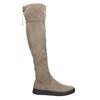 Brązowe kozaki damskie za kolana bata, brązowy, 699-3634 - 15