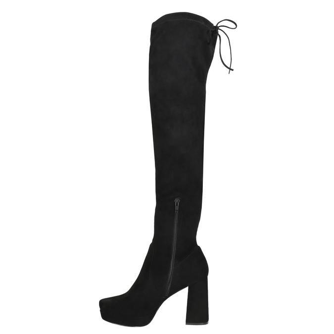Czarne kozaki damskie za kolana bata, czarny, 799-6663 - 26