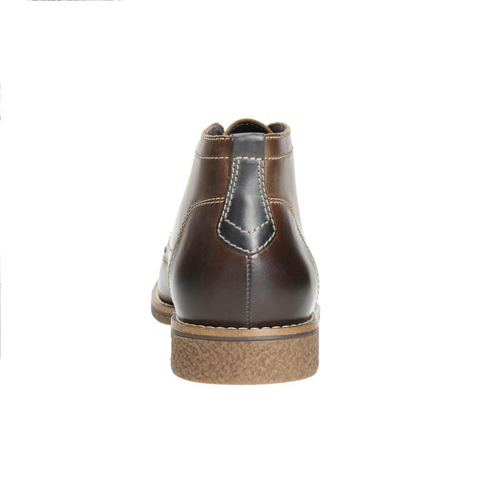 Skórzane buty męskie za kostkę bata, brązowy, 826-4614 - 17
