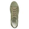 Skórzane trampki damskie wkolorze khaki bata, zielony, 523-7604 - 26