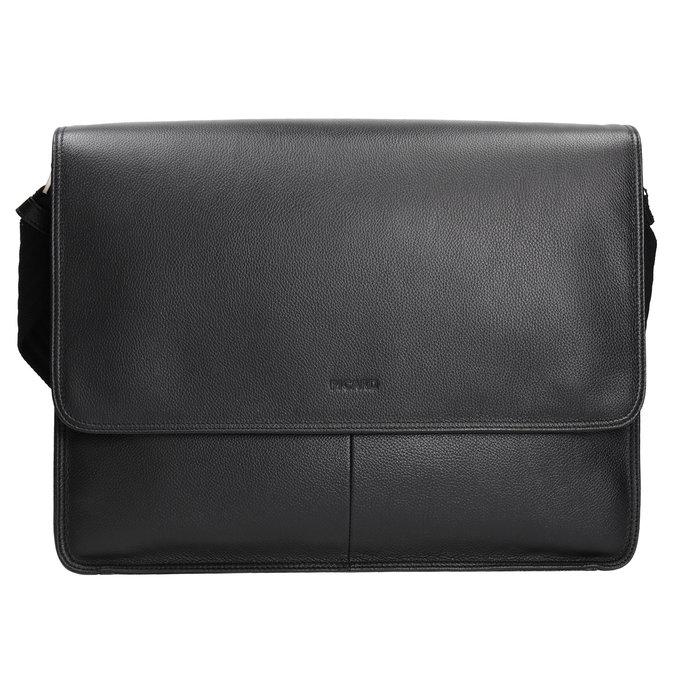 Skórzana torba z klapą picard, czarny, 964-6098 - 26