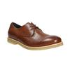 Skórzane półbuty na nieformalnej podeszwie bata, brązowy, 826-3412 - 13