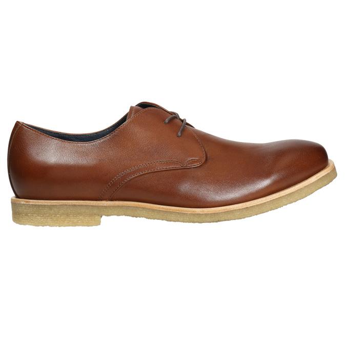 Skórzane półbuty na nieformalnej podeszwie bata, brązowy, 826-3412 - 15