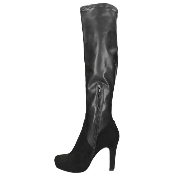 Czarne kozaki damskie bata, czarny, 791-6614 - 26