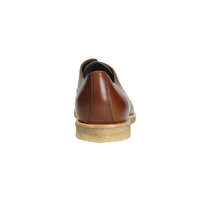 Skórzane półbuty na nieformalnej podeszwie bata, brązowy, 826-3412 - 17