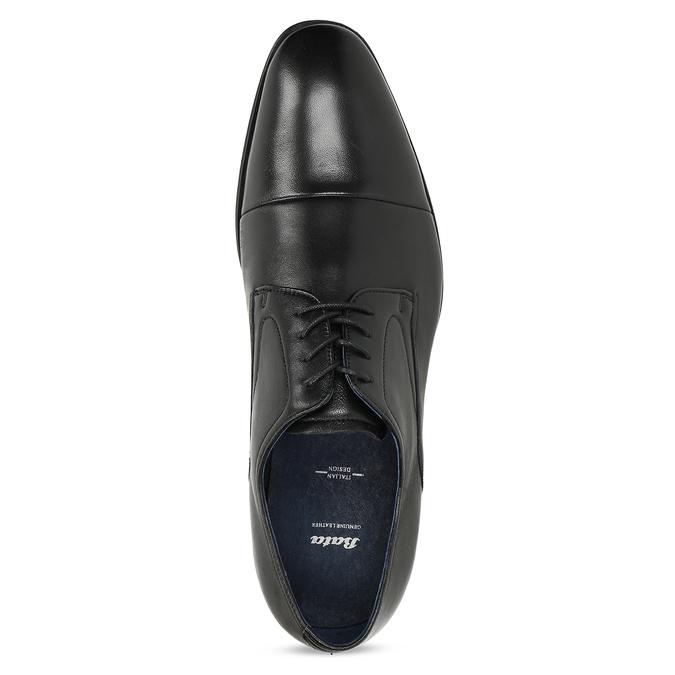 Skórzane półbuty męskie typu angielki bata, czarny, 824-6406 - 17