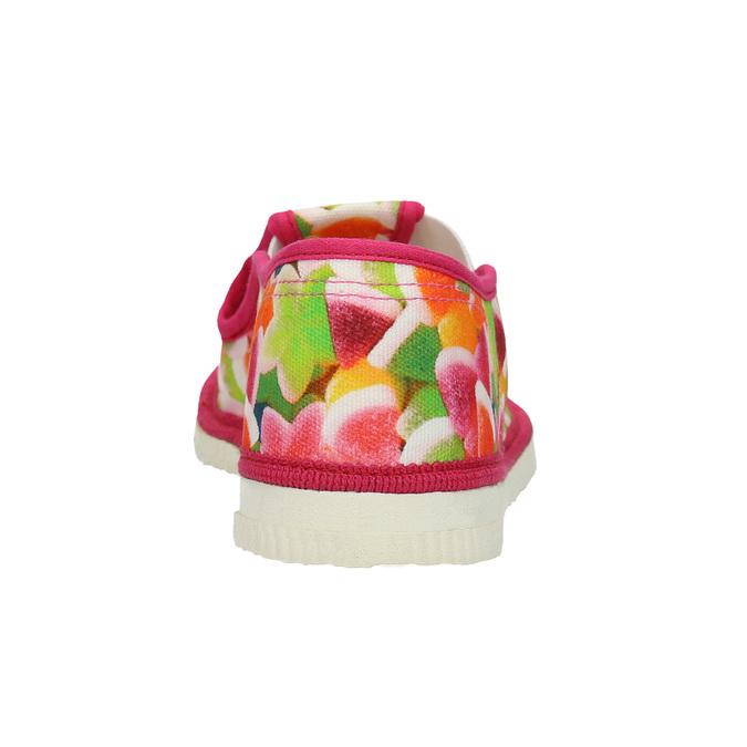 Kapcie dziewczęce wdeseń bata, różowy, 279-5122 - 16