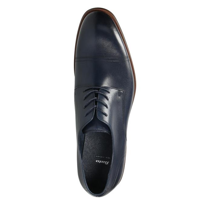 Niebieskie nieformalne półbuty ze skóry bata, niebieski, 826-9681 - 26