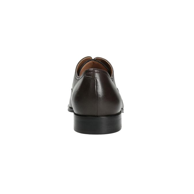 Brązowe skórzane półbuty typu angielki bata, brązowy, 824-4406 - 17