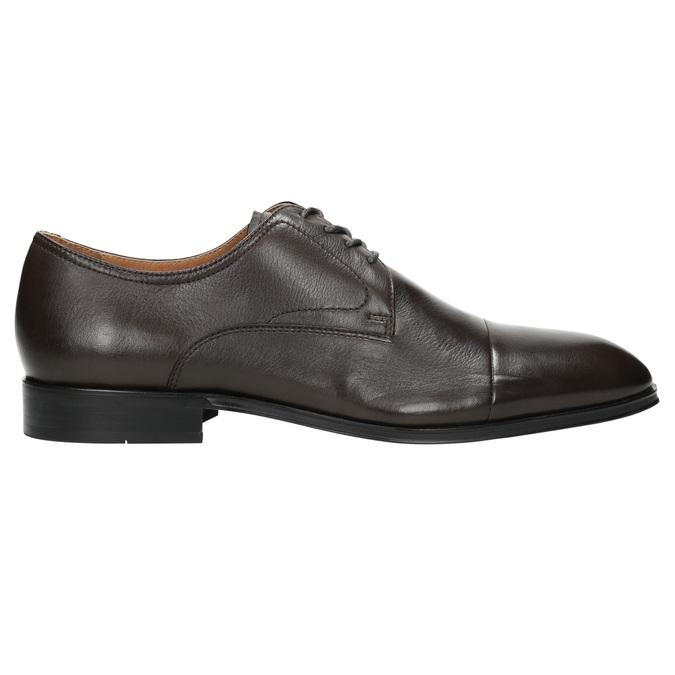 Brązowe skórzane półbuty typu angielki bata, brązowy, 824-4406 - 15