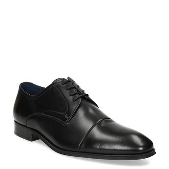 Skórzane półbuty męskie typu angielki bata, czarny, 824-6406 - 13
